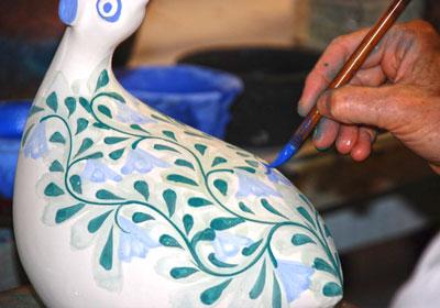 painting on Pottery page 1 class - آموزشگاه پویا اندیش - مرکز آموزش های تخصصی هنر