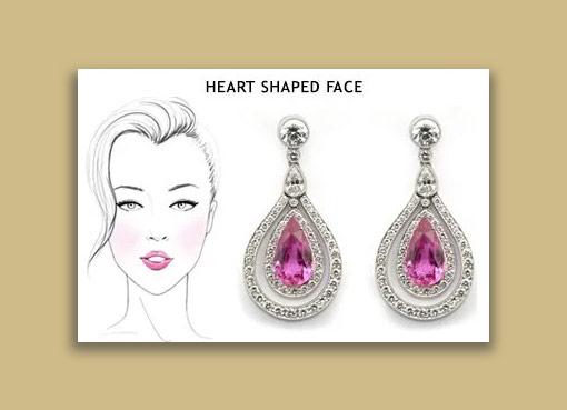 earrings for heart shape face - تاثیرات گوشواره در زیباتر جلوه دادن صورت