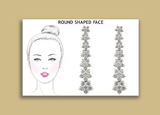 earrings for round face - تاثیرات گوشواره در زیباتر جلوه دادن صورت