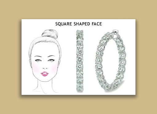 earrings for your squre face - تاثیرات گوشواره در زیباتر جلوه دادن صورت