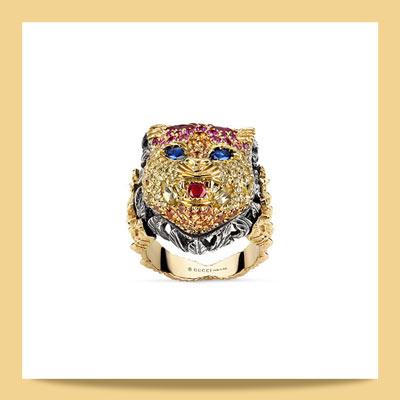 gucci 1 - برندهای مطرحی که با استفاده از سمبل حیوانات در جواهرسازی غوغا به پا کردند