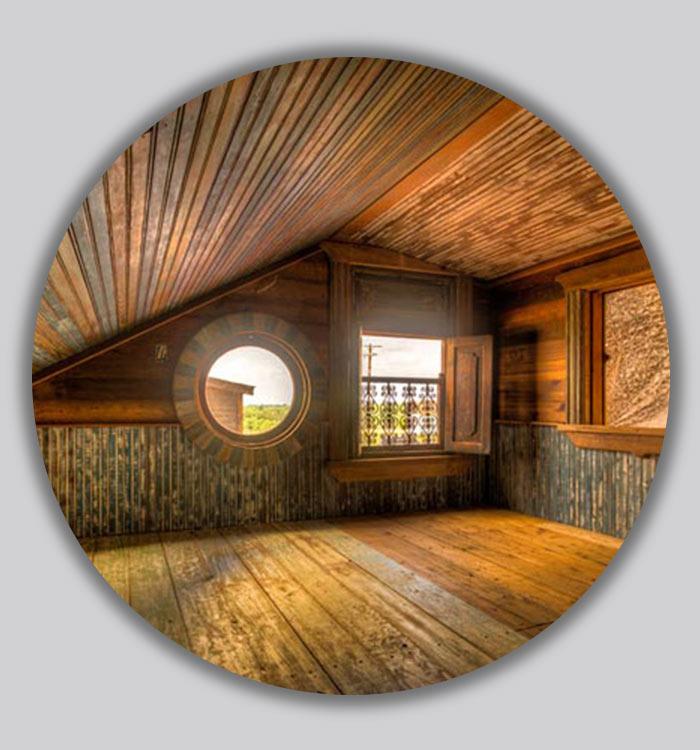 پنجره های گرد در طراحی داخلی
