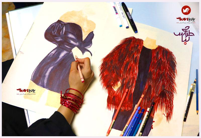 tarahilebas 39 dress amoozesh pouyaandish 17 - آموزش طراحی لباس