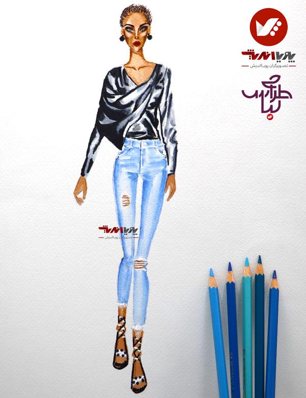 tarahilebas 39 dress amoozesh pouyaandish 3 - آموزش طراحی لباس