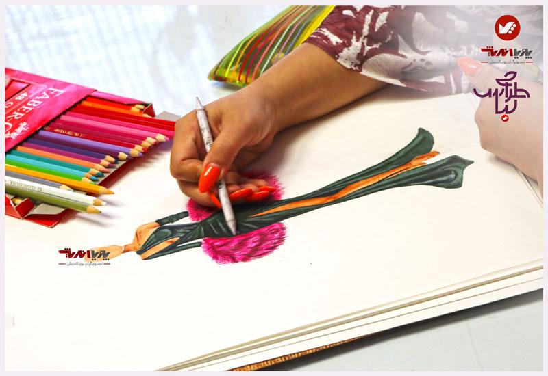tarahilebas 39 dress amoozesh pouyaandish 7 - آموزش طراحی لباس