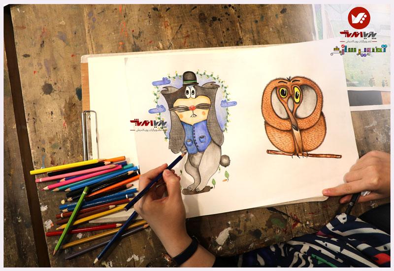 tasvirsazi 9 illustrator tasvirsazi mosahebe pouyaandish  10 - تصویرسازی