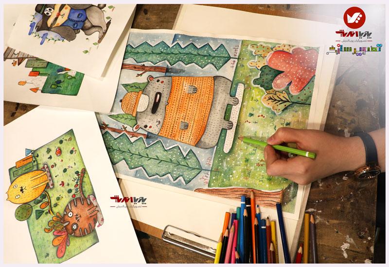 tasvirsazi 9 illustrator tasvirsazi mosahebe pouyaandish  9 - تصویرسازی