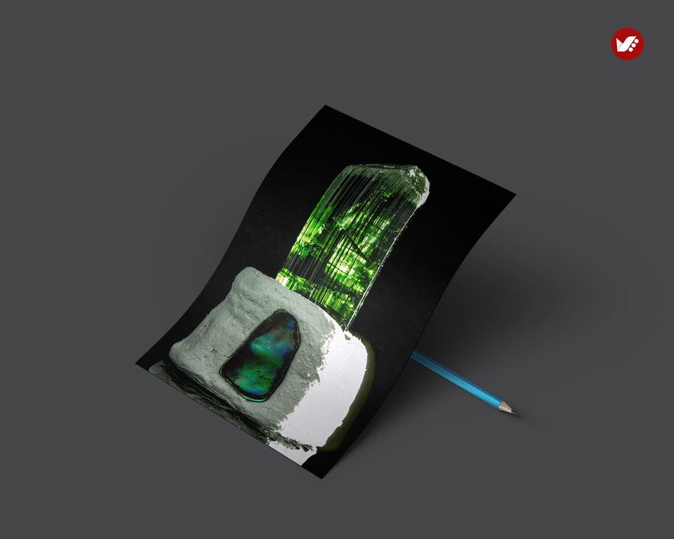 Green tourmaline - اثر کریستال ها در واستو