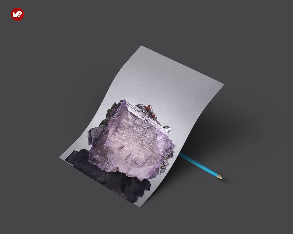 Purple fluorite - اثر کریستال ها در واستو