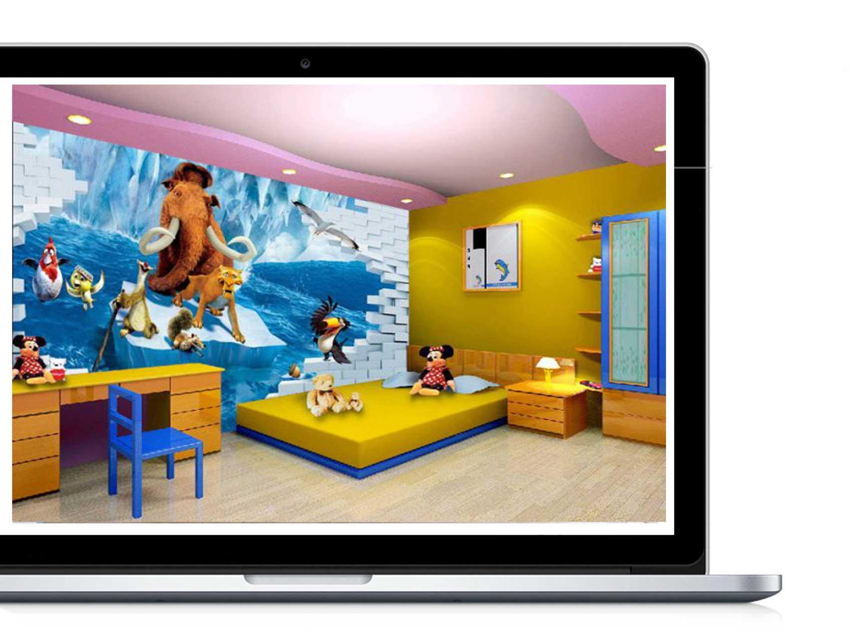 Yellow kids study room 33 - دکوراسیون داخلی- اتاق کودک