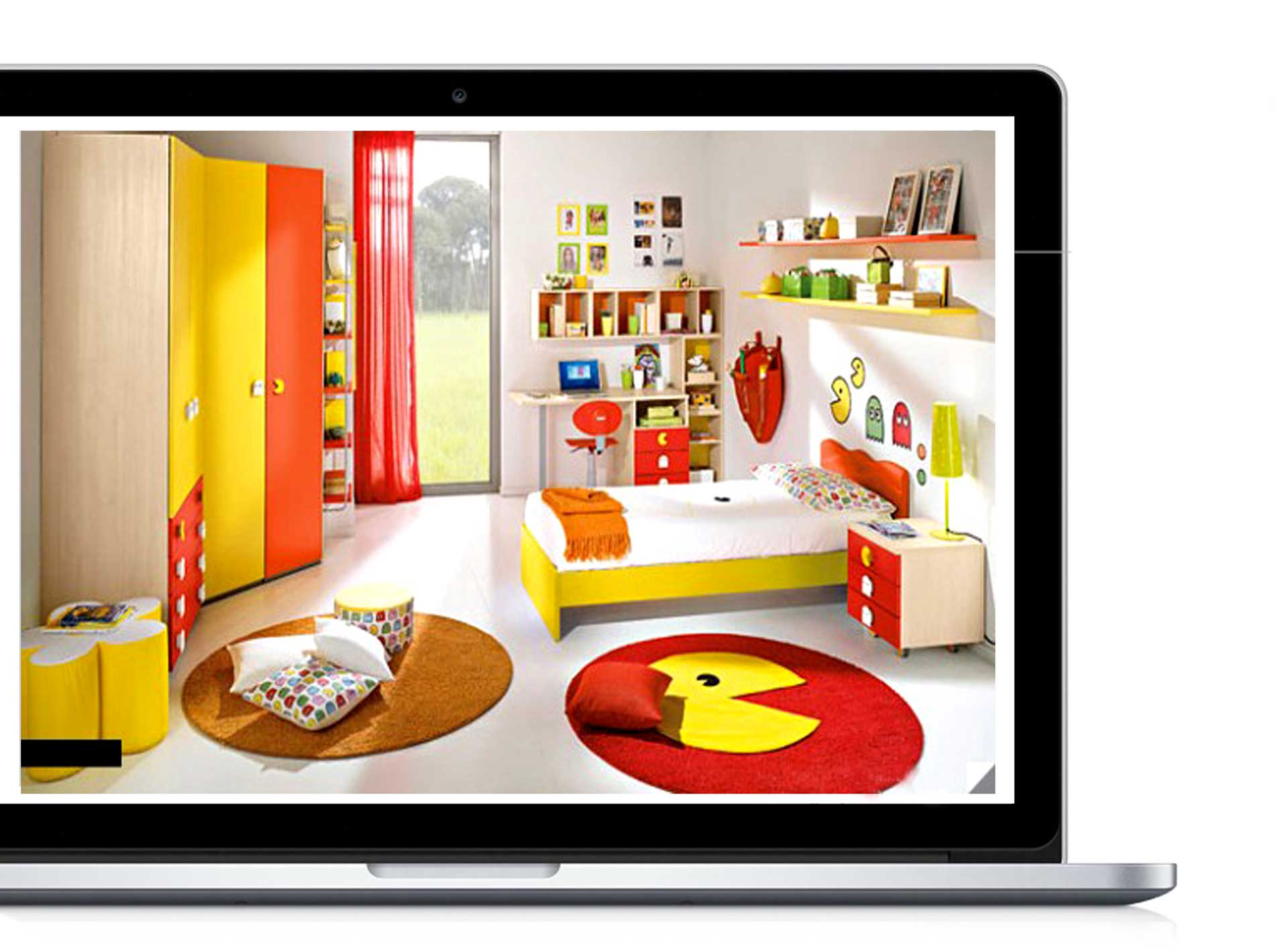 Yellow kids study room 38 - دکوراسیون داخلی- اتاق کودک