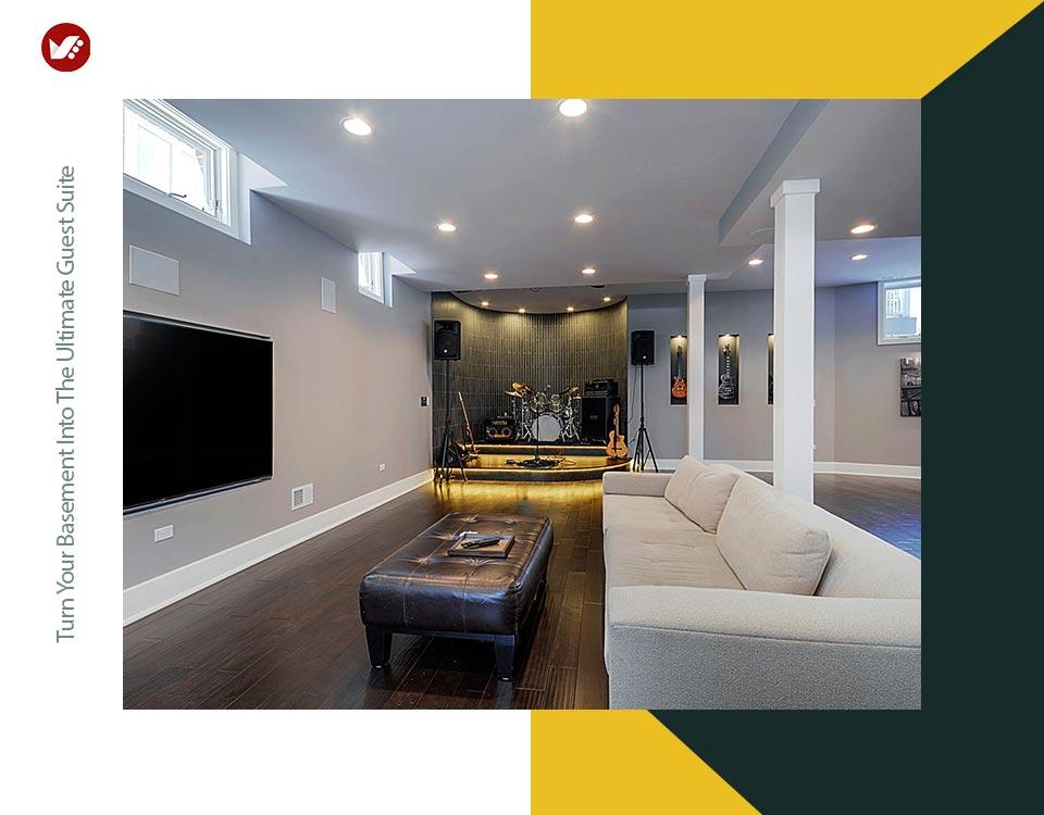 basement interior design 15 - تبدیل زیرزمین به فضایی بهتر و کاربردی تر