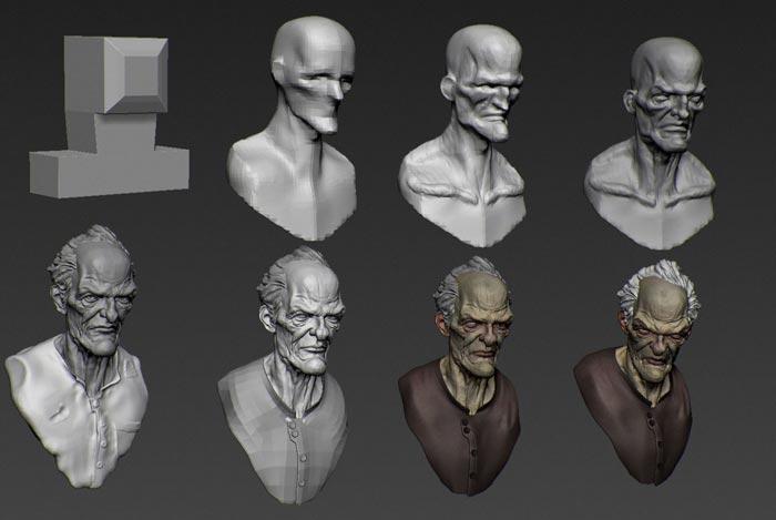 digital sculpture 8 - مجسمه سازی سه بعدی: چگونه با سبک خودتان کار کنید