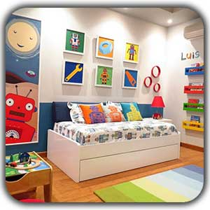 kids bedroom shakhes - عناصر ارگانیک در طراحی دکوراسیون