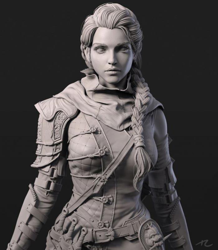 sculpture 3d model 22 - مجسمه سازی سه بعدی: چگونه با سبک خودتان کار کنید