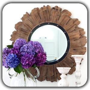 decorating mirrors 1 - عناصر ارگانیک در طراحی دکوراسیون