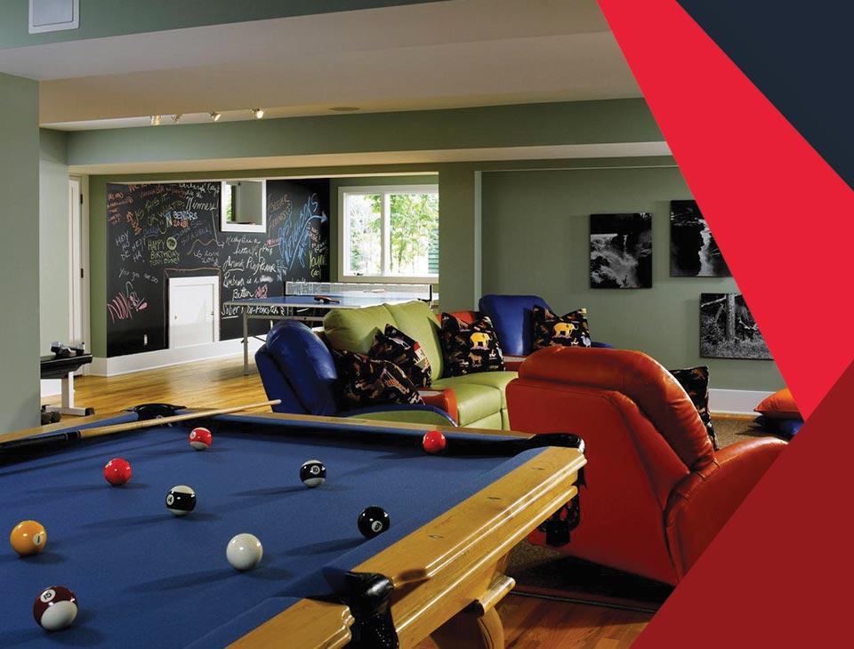 game room interior 1 - طراحی اتاق بازی در خانه برای تمامی سنین