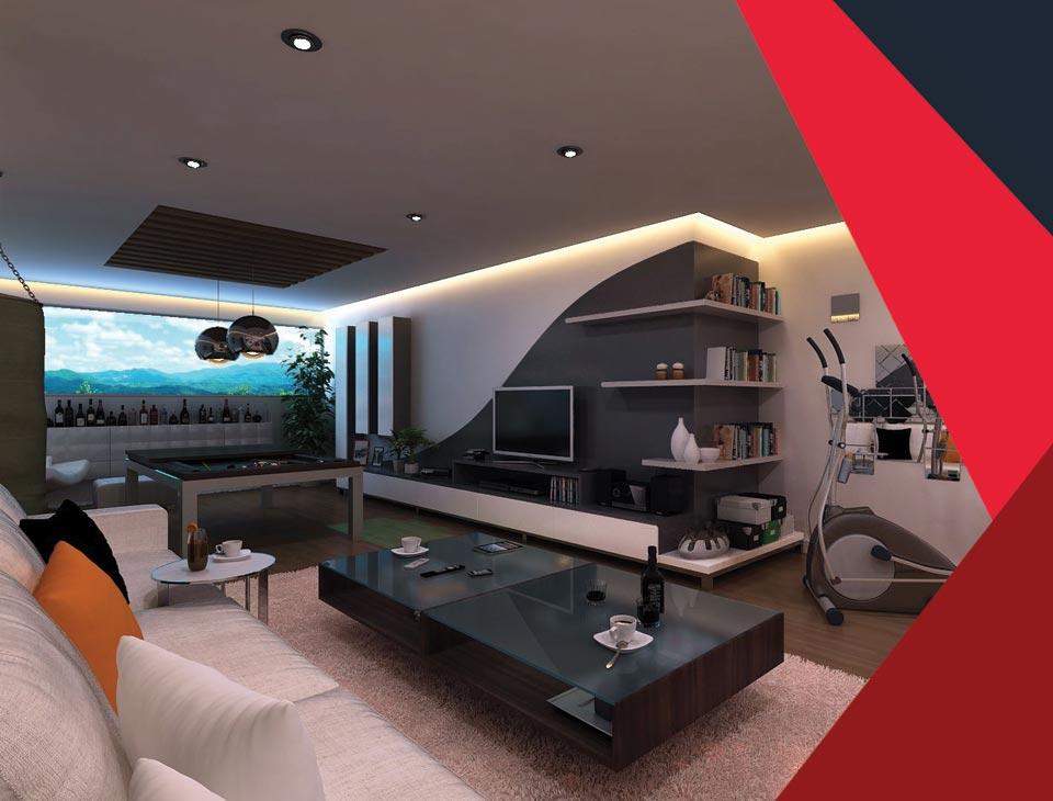 game room interior 12 - طراحی اتاق بازی در خانه برای تمامی سنین