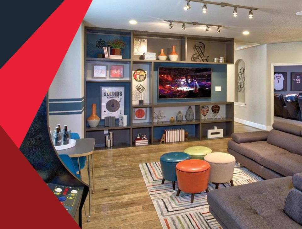 game room interior 2 - طراحی اتاق بازی در خانه برای تمامی سنین