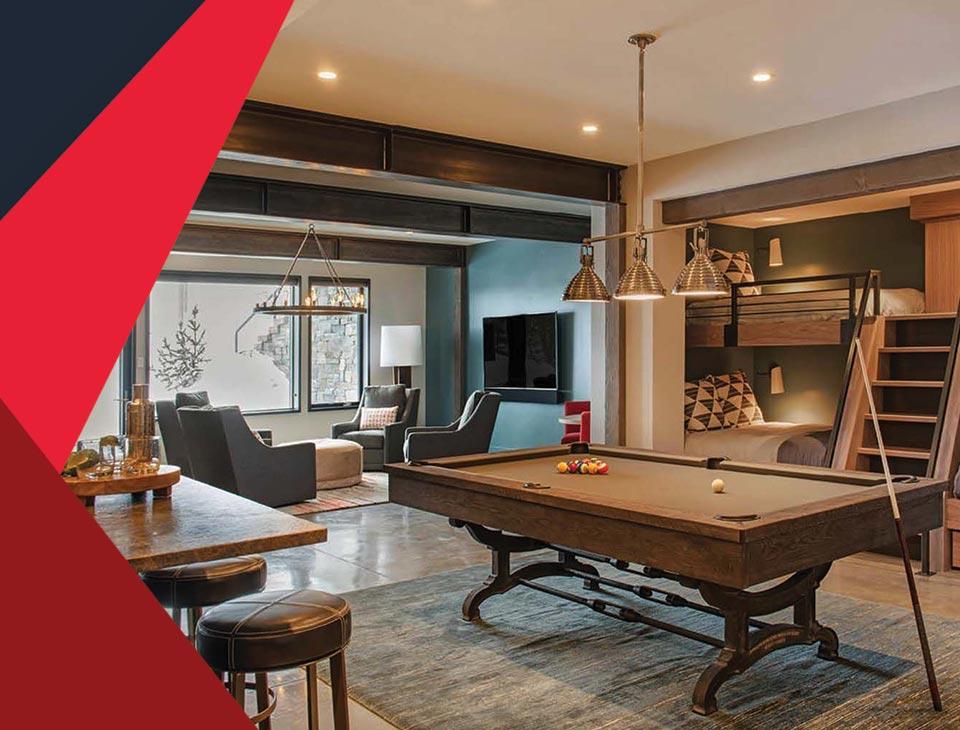 game room interior 4 - طراحی اتاق بازی در خانه برای تمامی سنین