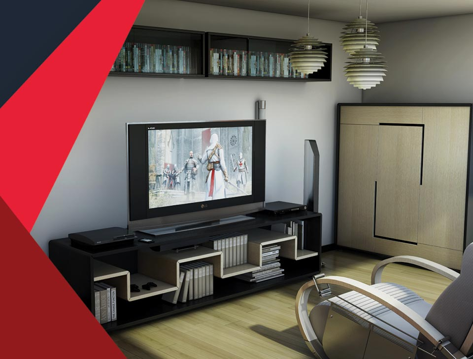 game room interior 7 - طراحی اتاق بازی در خانه برای تمامی سنین