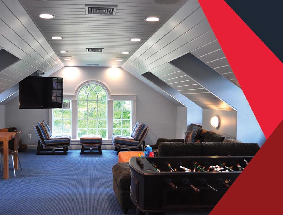 game room interior 8 - طراحی اتاق بازی در خانه برای تمامی سنین