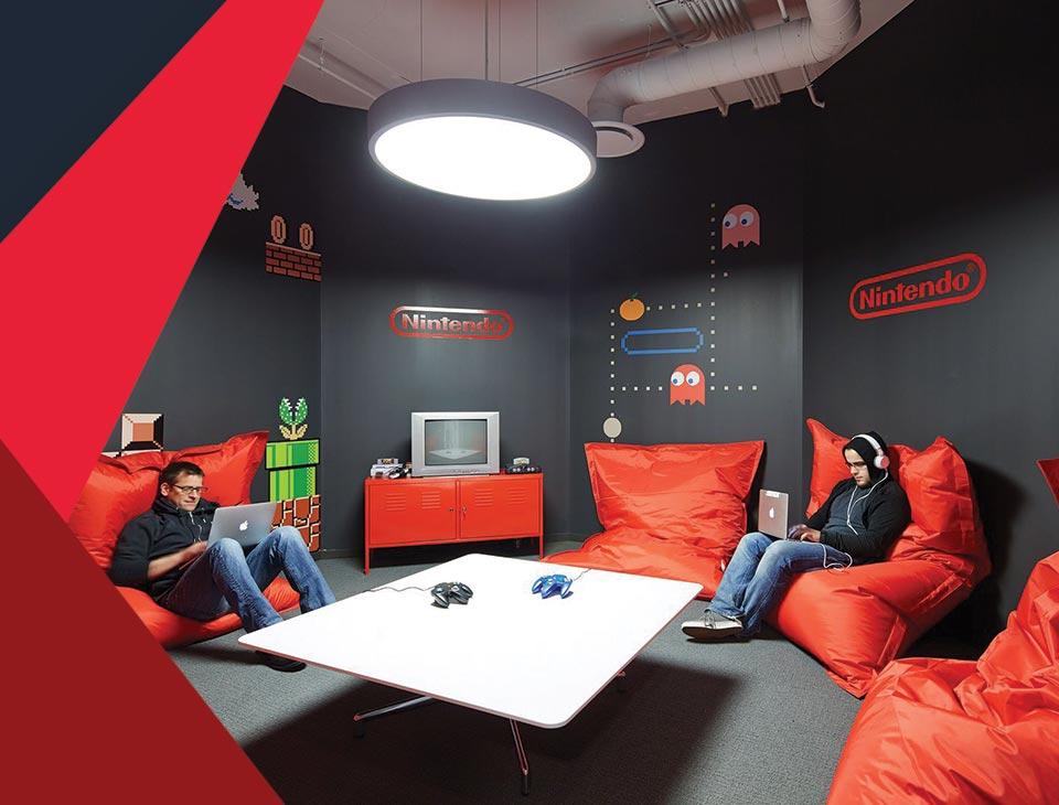 game room interior 9 - طراحی اتاق بازی در خانه برای تمامی سنین