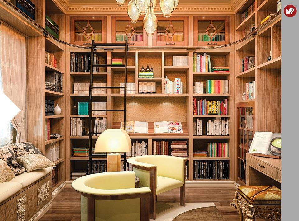 home libray design - کتابخانه خانگی