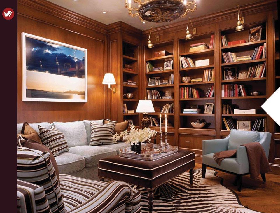 home libray design 2 - کتابخانه خانگی