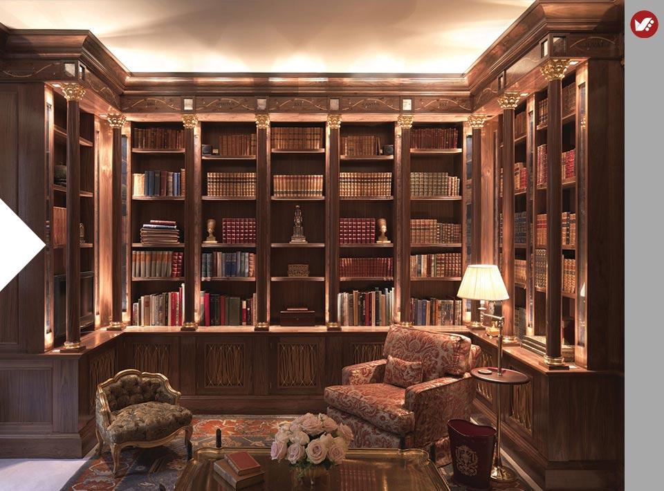 home libray design 7 - کتابخانه خانگی