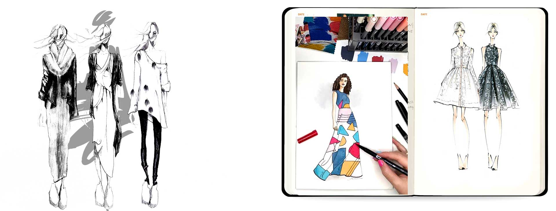 Drawing in Fashion 7 - اسکیس مُد