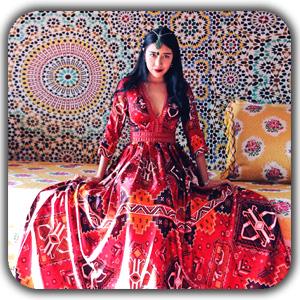 bohemian women style 1 - معرق چرم