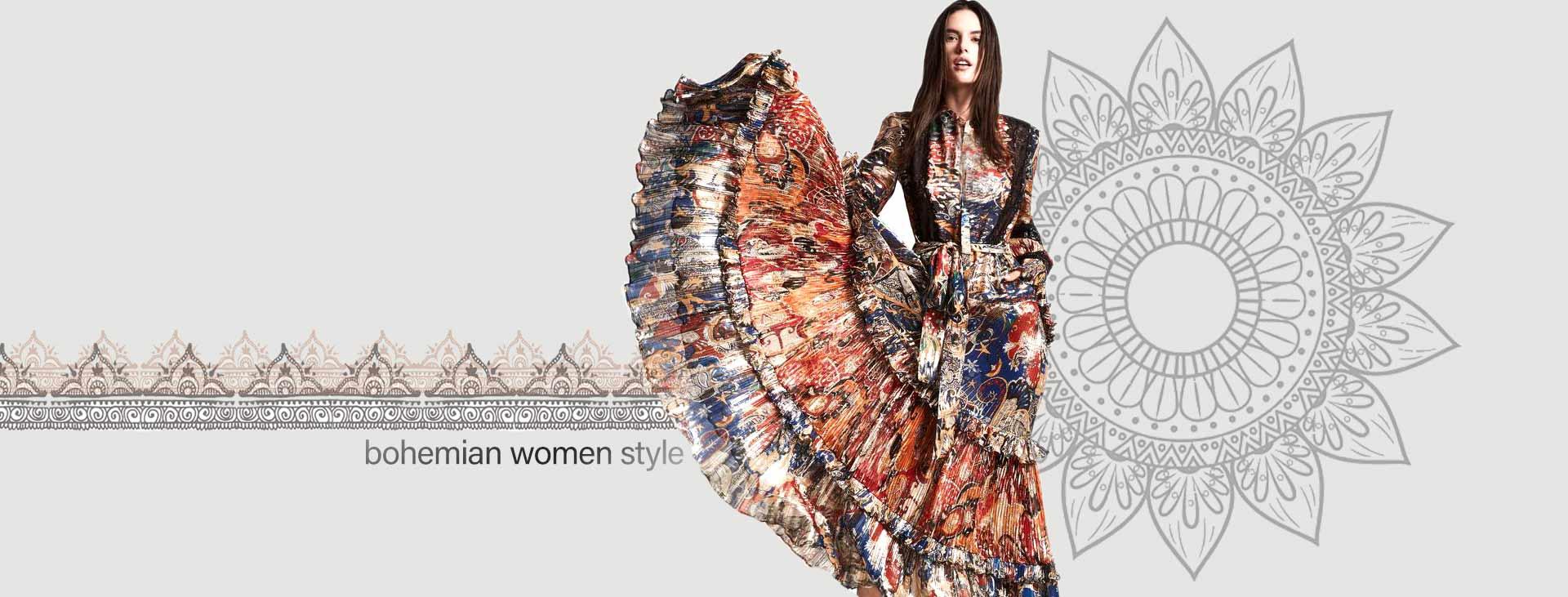 bohemian women style 2 - استایل بوهو زنانه