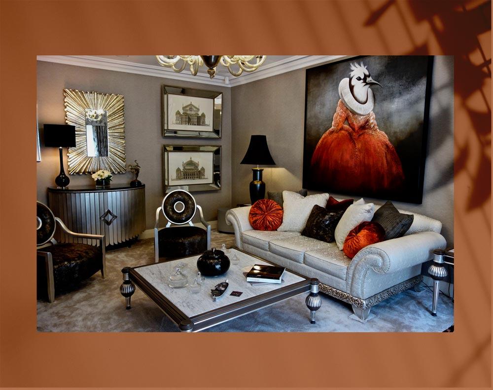 luxury living room 166 - اتاق نشیمن لوکس