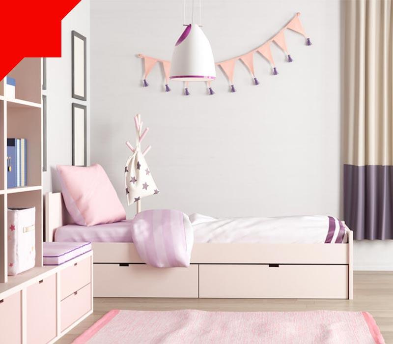 فضاسازی اتاق خواب کوچک