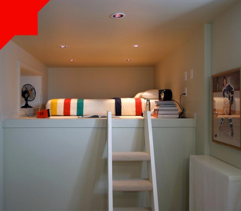 فضاسازی عمودی در اتاق خواب کوچک