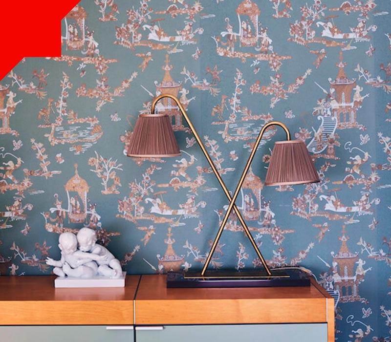 کاغذ دیواری اتاق خواب کوچک