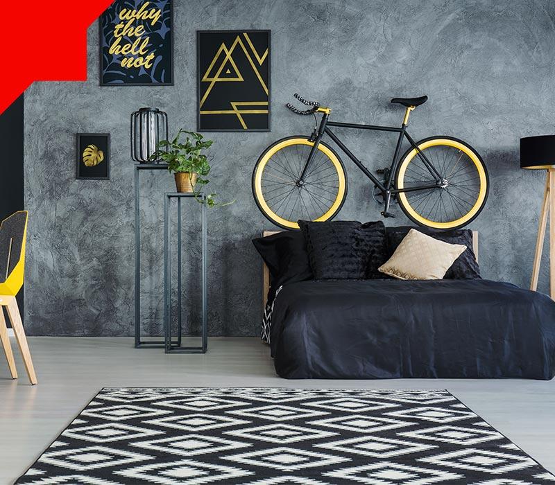 فرش اتاق خواب کوچک