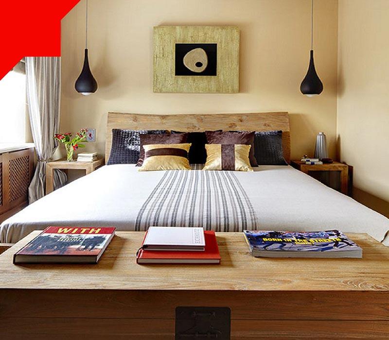 رنگ های روشن در اتاق خواب کوچک