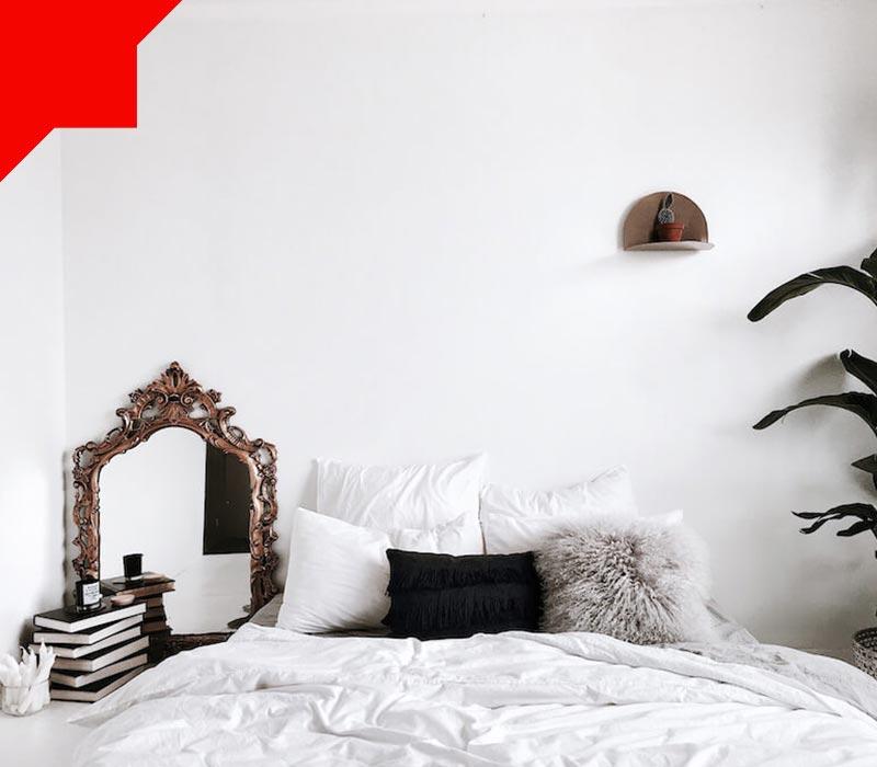 رنگ سفید در اتاق خواب کوچک