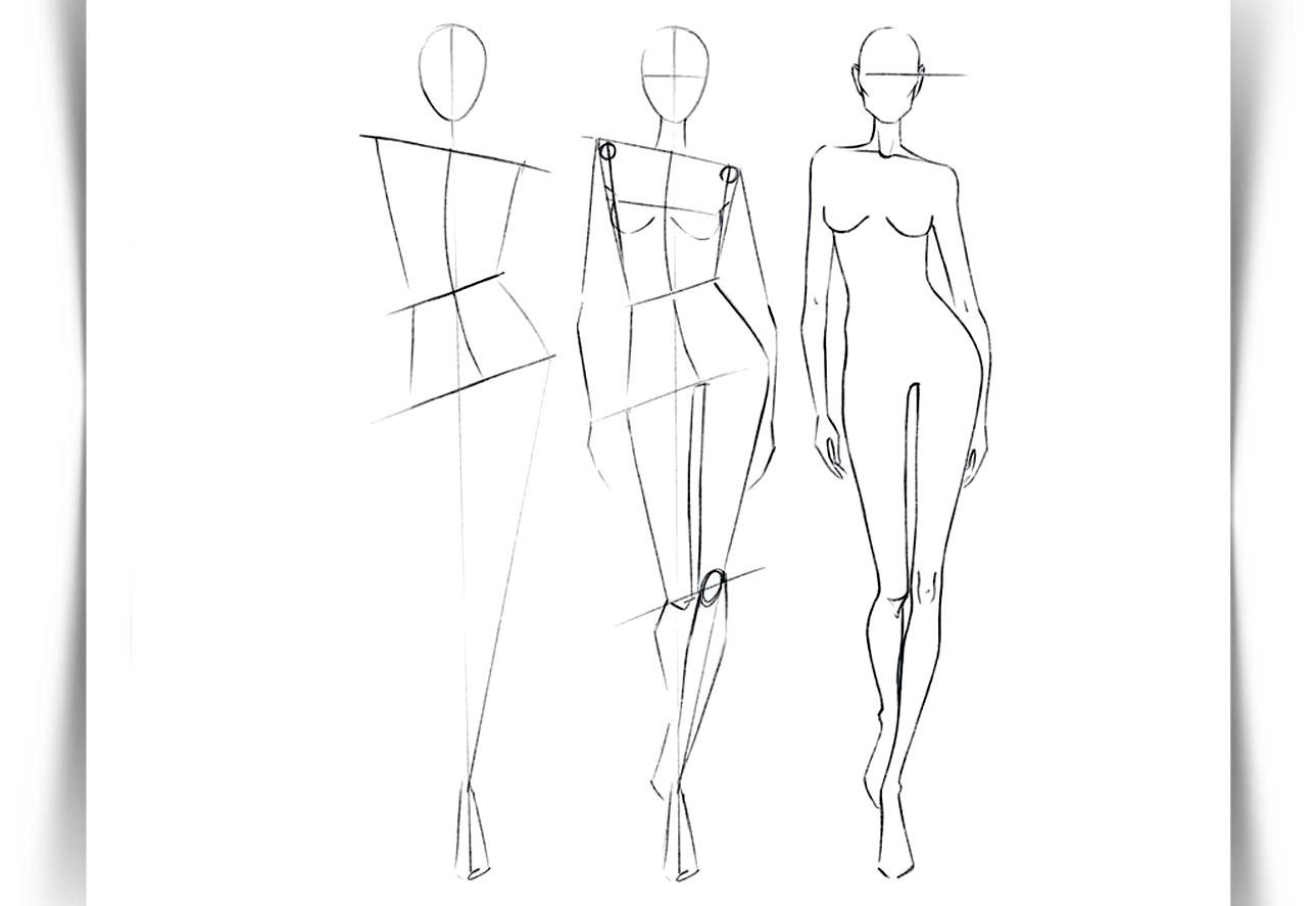 Draw Fashion Sketches 0180 - طراحی مد لباس