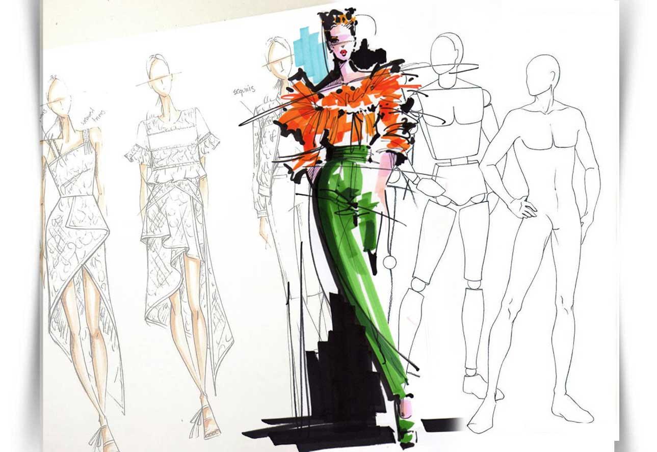 Draw Fashion Sketches 022 - طراحی مد لباس