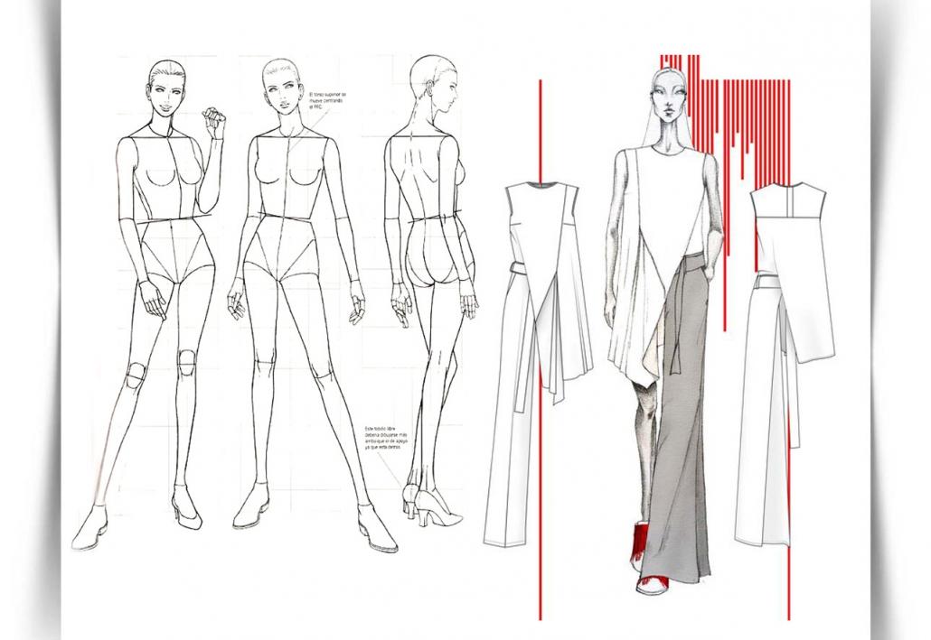 Draw Fashion Sketches 04 1030x709 - طراحی مد لباس