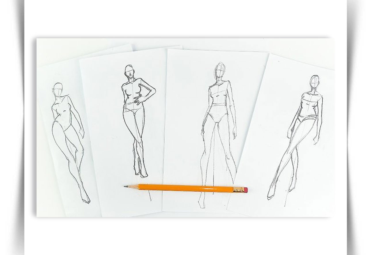 Draw Fashion Sketches 1 - طراحی مد لباس