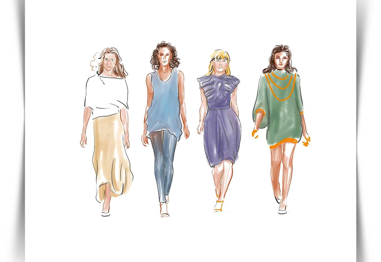 Draw Fashion Sketches 12 - طراحی مد لباس