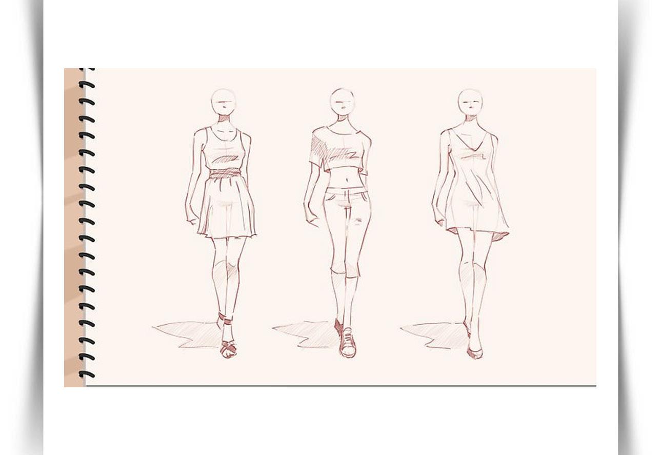 Draw Fashion Sketches 7 - طراحی مد لباس