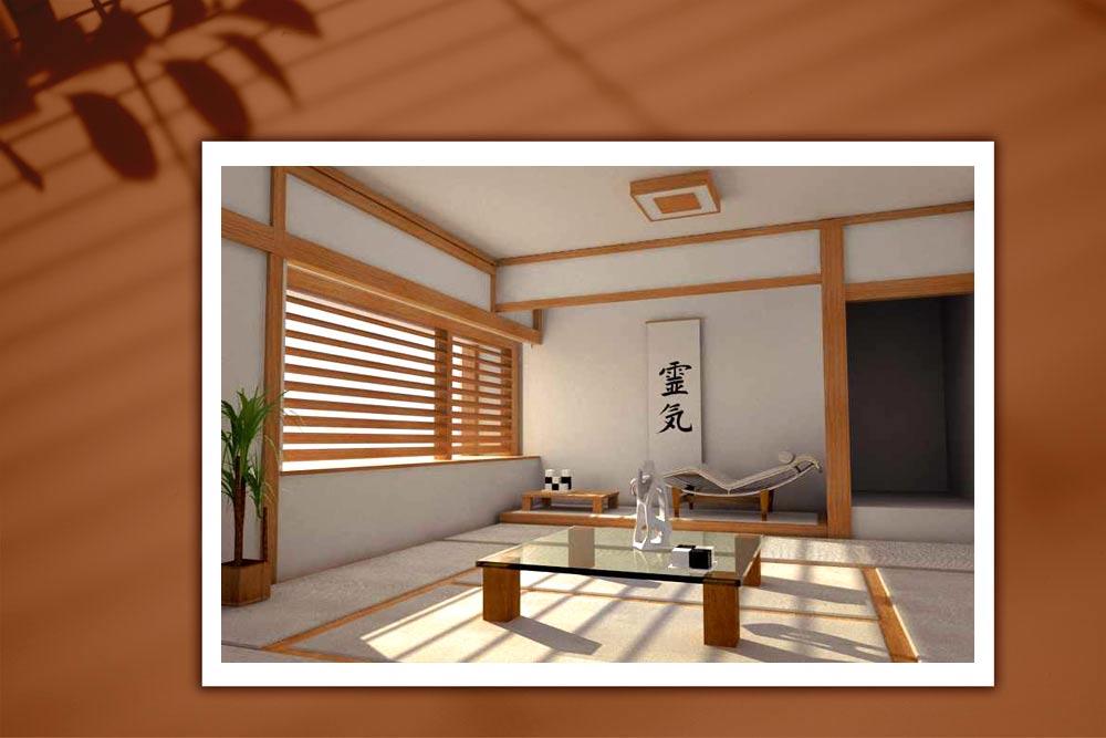 Japanese style 998 - طراحی دکوراسیون داخلی به سبک ژاپنی ها
