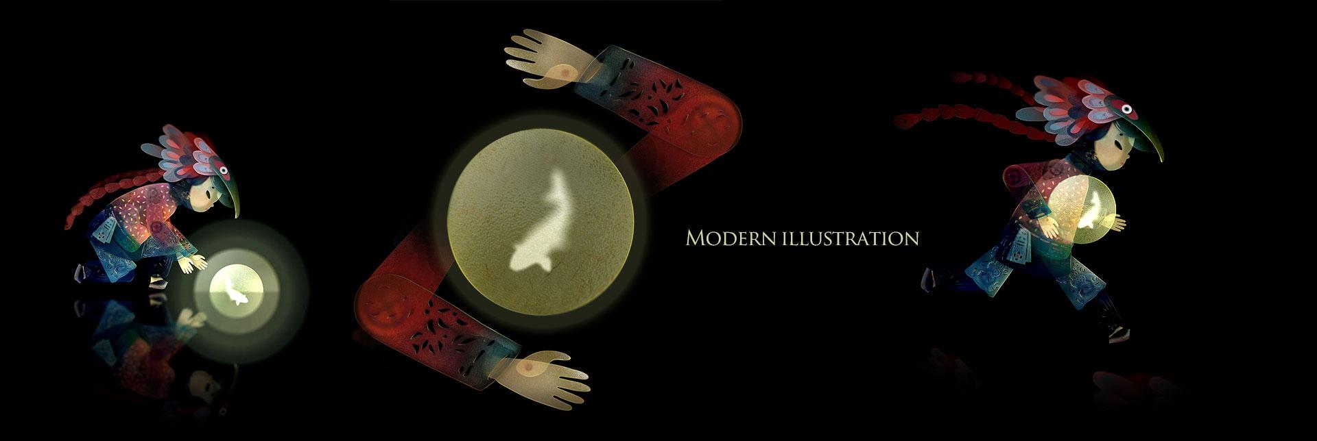modern illustration 00 - تصویرسازی مدرن