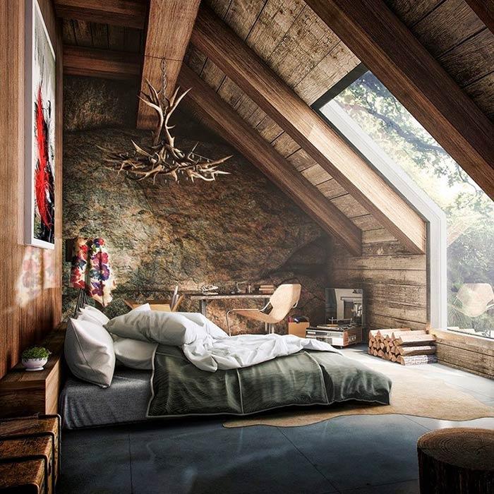 دکوراسیون روستیک برای اتاق خواب