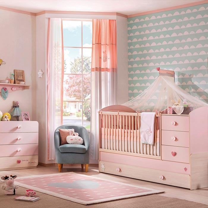 توجه به ماندگاری وسایل و طراحی اتاق خواب دختران از تولد تا نوجوانی